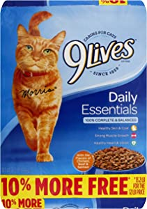 9Lives Daily Essentials Salmon Chicken & Beef Cat Food, 13.2 Lb