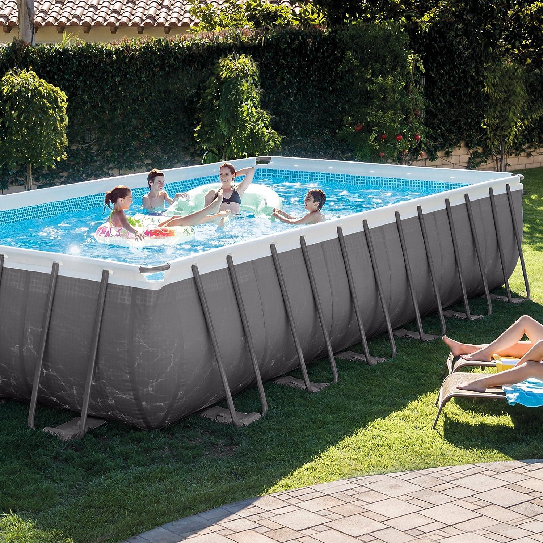 Amazon.com : Intex Rectangular Ultra Frame Pool Set, 24-Feet by 12 ...