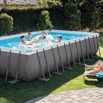 Amazoncom Intex Rectangular Ultra Frame Pool Set 24 Feet by 12