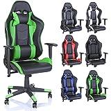 TRESKO Silla de oficina Racing Gaming silla de escritorio ordenador giratoria dirección,…