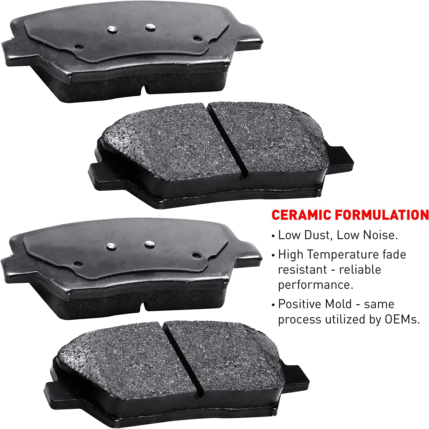 Ceramic Brake Pads For 1996-2003 Toyota RAV4 Front Brake Rotors Kit