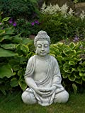 Wunderschöner, großer Buddha aus Steinguss, frostfest