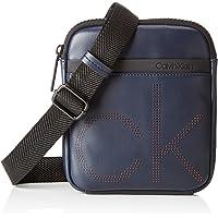 Calvin Klein 卡尔文·克莱恩 Ck Up Mini Flat Crossover 男士单肩包,3x20x18 厘米