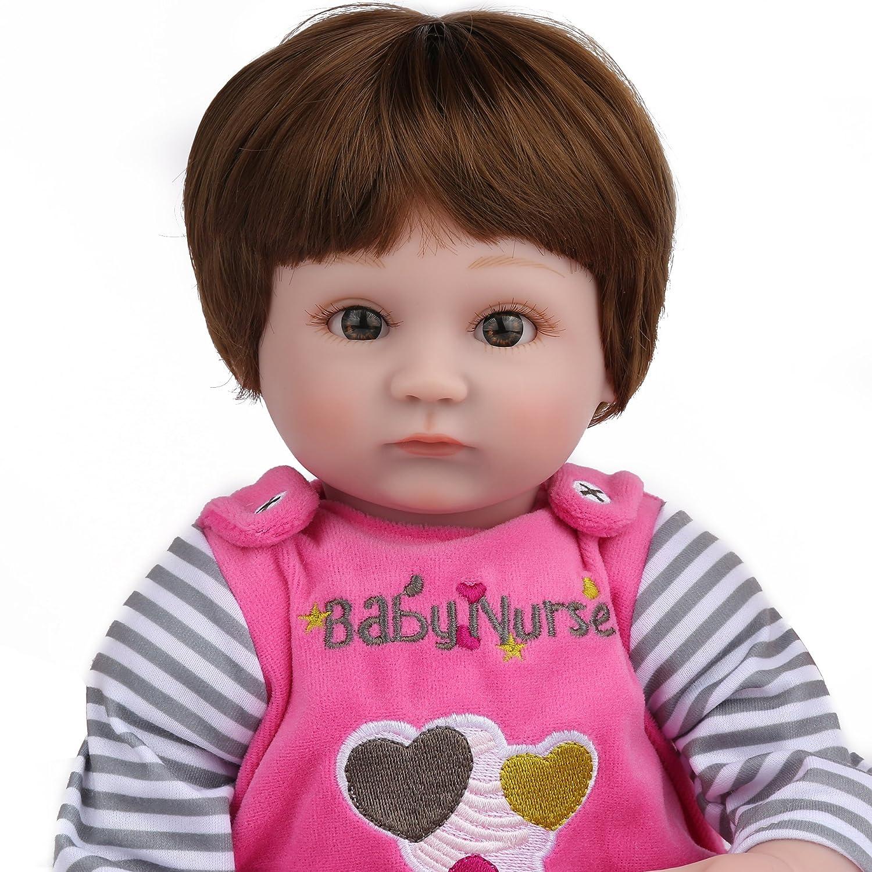 16 Inch Baby Doll,Snow Girl Kaydora Reborn Baby Doll Girl Handmade Huggable Baby Doll