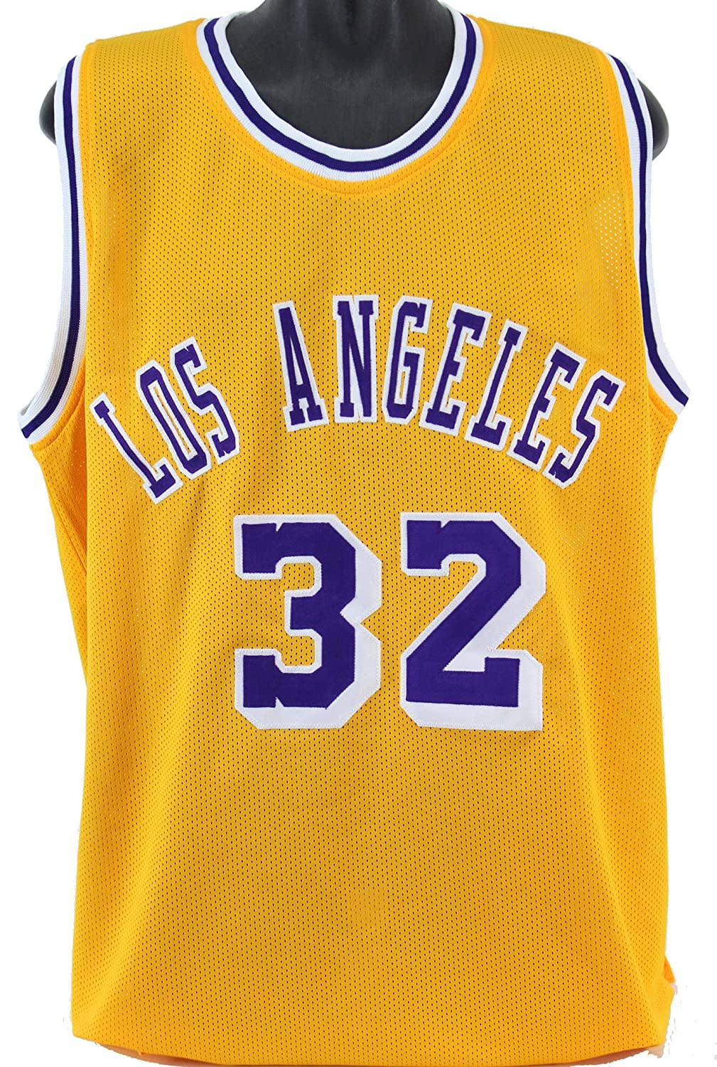 d22194218 Lakers Magic Johnson Authentic Signed Yellow Jersey Autographed BAS  Witnessed 1 at Amazon s Sports Collectibles Store