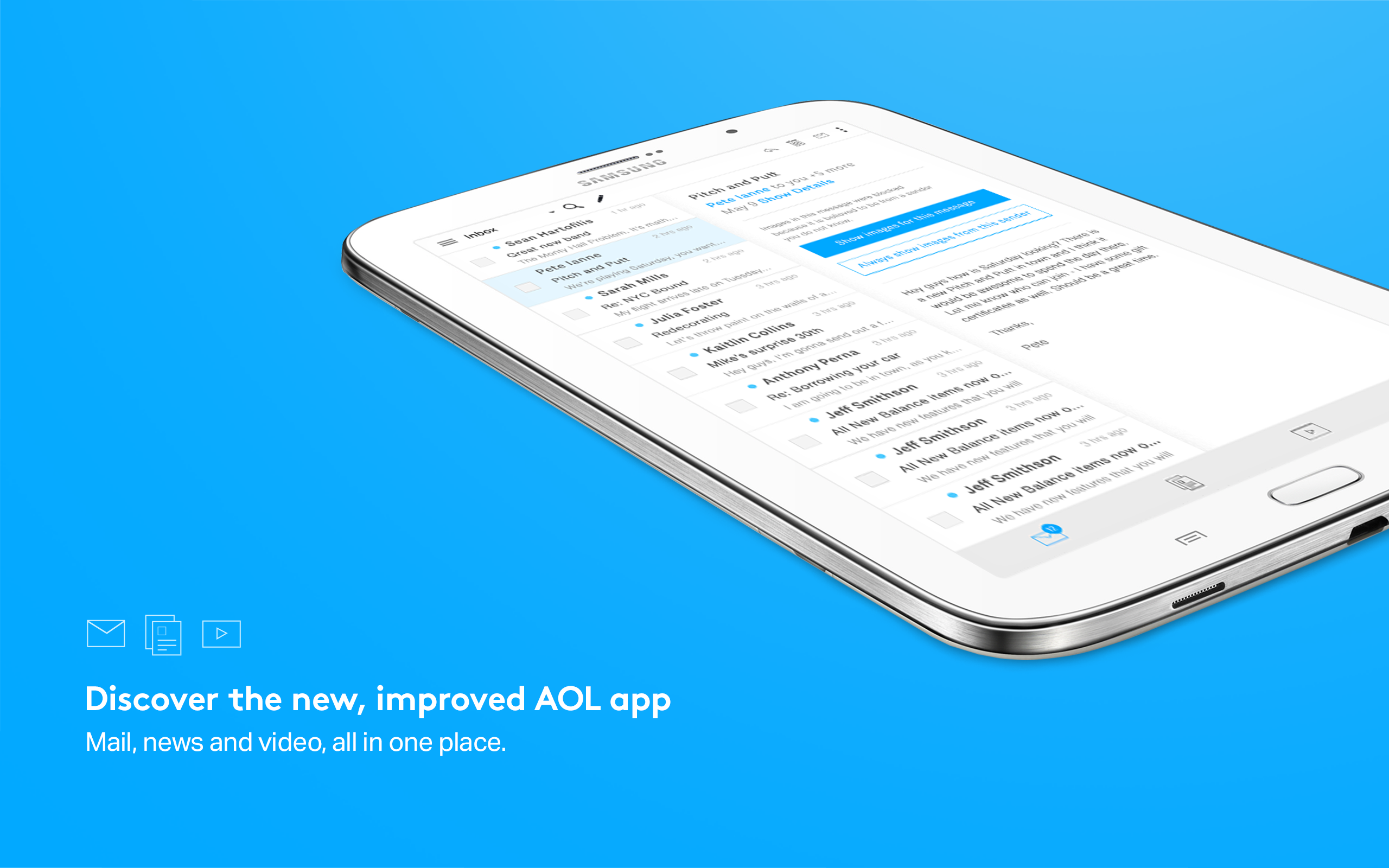 Amazon aol mail news video appstore for android sciox Gallery