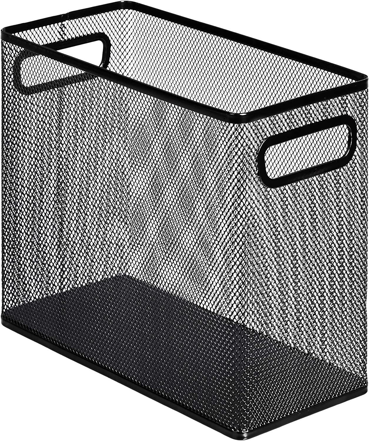AmazonBasics Mesh Steel Desktop Hanging File Holder, Black