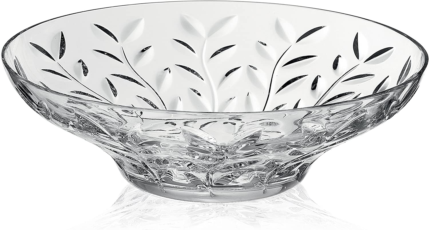 RCR by Lorren Home Trends Round Bowl Laurus Crystal