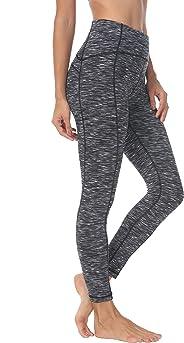 QUEENIEKE Women Yoga Leggings Ninth Pants Mid Waist Running Gym Tights 70824
