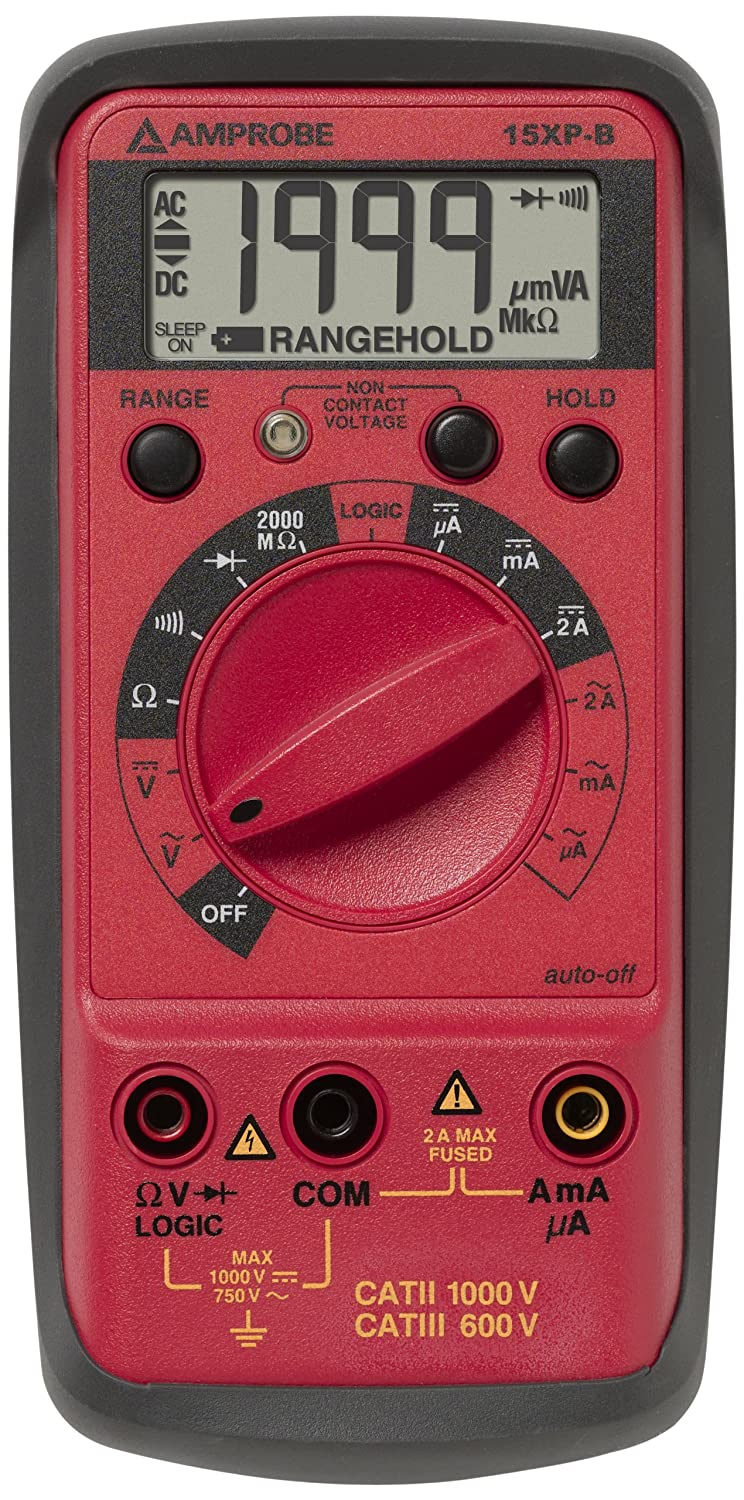 Amprobe 15xp B Compact Digital Multimeter With Non Contact Voltage Across A Component In Circuit Is Measured Using Voltmeter This Indicator And Logic Test Multi Testers Industrial Scientific