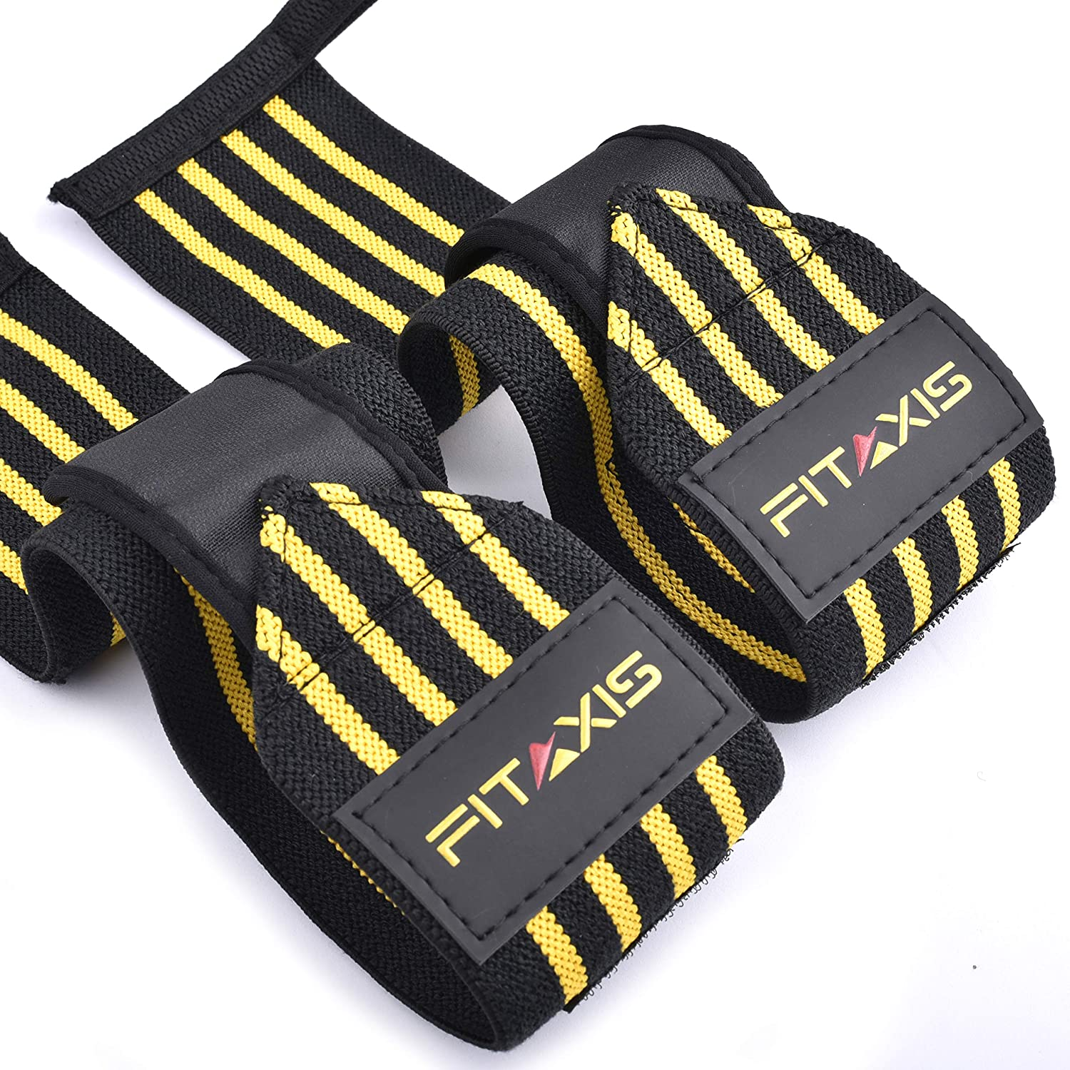 FITAXIS Mu/ñequeras Vendido en par Wrist Wraps//Bands for Gimnasio Fitness Crossfit Weightlifting para Hombres y Mujeres