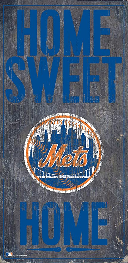 Fan Creations New York Mets 6 x 12 Home Sweet Home Wood Sign