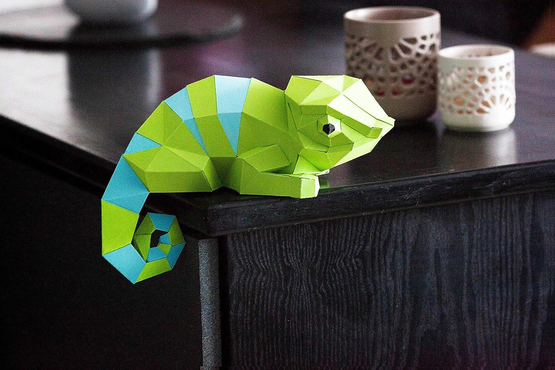 DIY Pre-Cut Papercraft Cat Assembly Kit 3D MODERN PUZZLE for walldecor ORIGADREAM low poly paper sculpture decoration