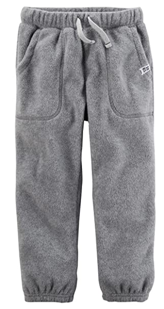 3f685021fb644 Amazon.com: Carter's Baby Boys' Pull-On Fleece Joggers 12 Months: Clothing