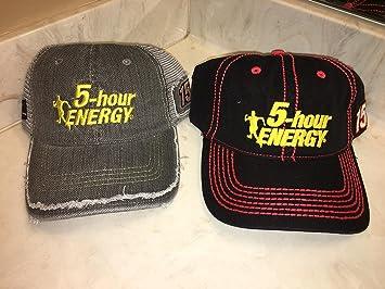 9f94cbfc2f2 Lot of 2 Nascar Team Issued Hats Caps CLINT BOWYER 5-HOUR ENERGY MICHAEL  WALTRIP