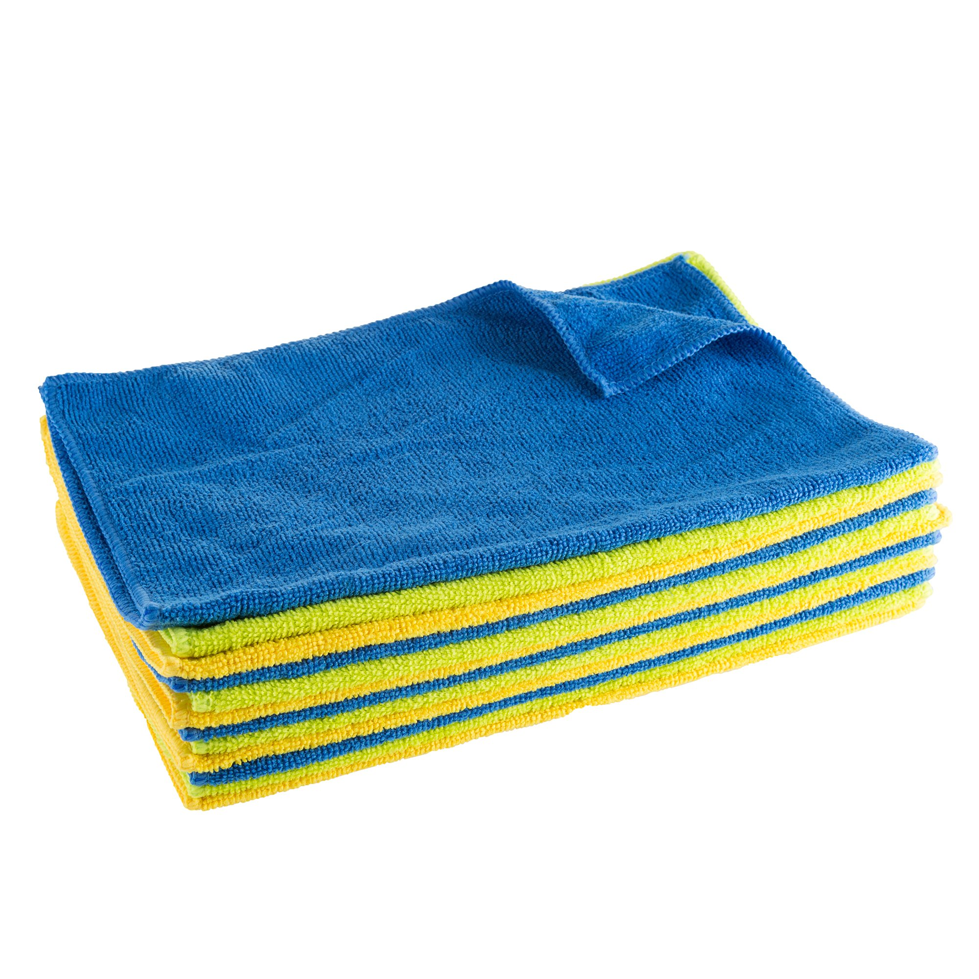 Stalwart Microfiber Cloths - 12 Count Cleaning Towels Dust Polish and Clean