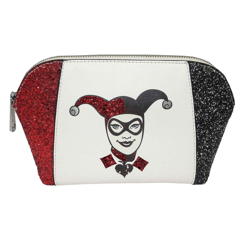 DC Comics Harley Quinn - Bolsa de Maquillaje, Color Rojo, Blanco y ...