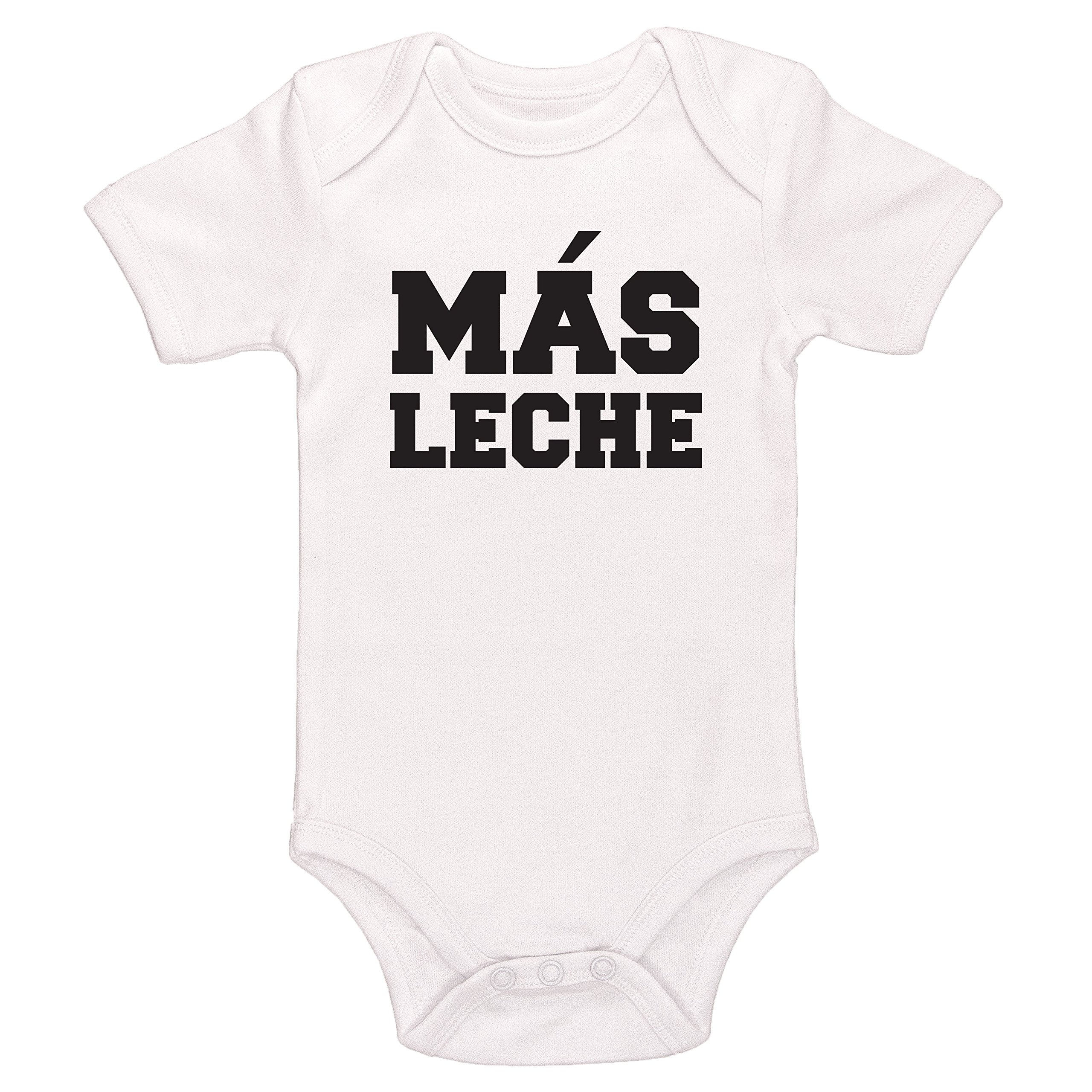 Kinacle Mas Leche Baby Bodysuit (3-6 Months, White)