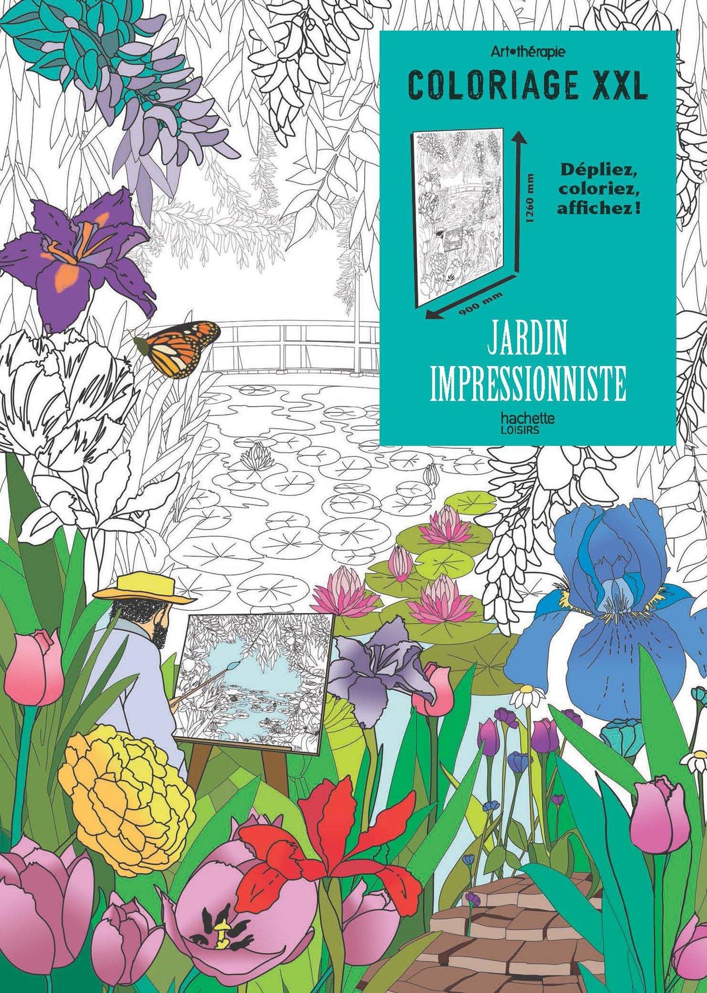 Coloriage Xxl Jardin Impressionniste Amazon Fr Terrazzoni Julie Livres