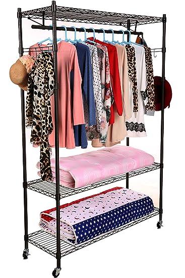 Acecoree Kleiderstange Kleiderständer Kleiderschrank ...