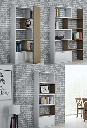 Bücherregal System bmf paco ausziehbar bücherregal system in 5 farben 74 130 breit