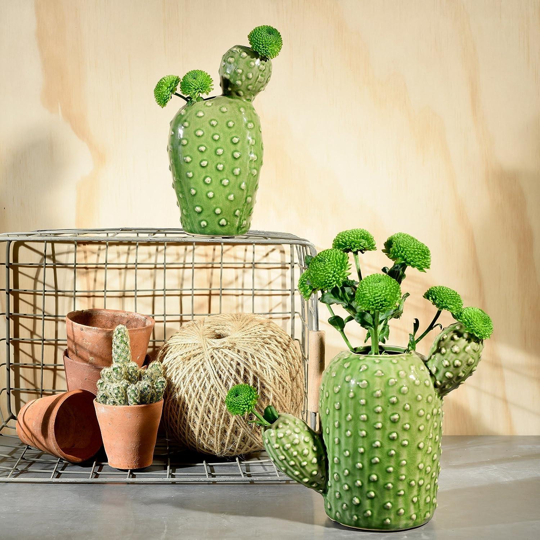 Burgon /& Ball Ceramic Cactus Shaped Vase Pot in Small GIG//CACTUS