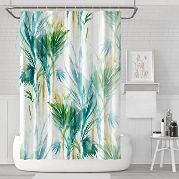 Wash Your Worries Away Shower Decor Polyester Fabric Bathroom Shower Curtain Home Decor Set with Hooks 72X72