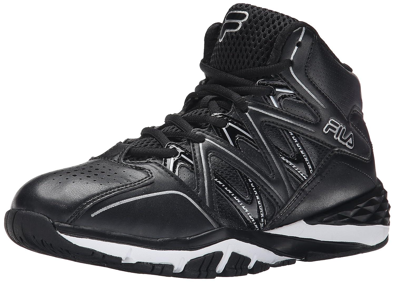 Fila Men's Posterizer Basketball Shoe B01015TRR0 13 D(M) US|Black/Black/Metallic Silver