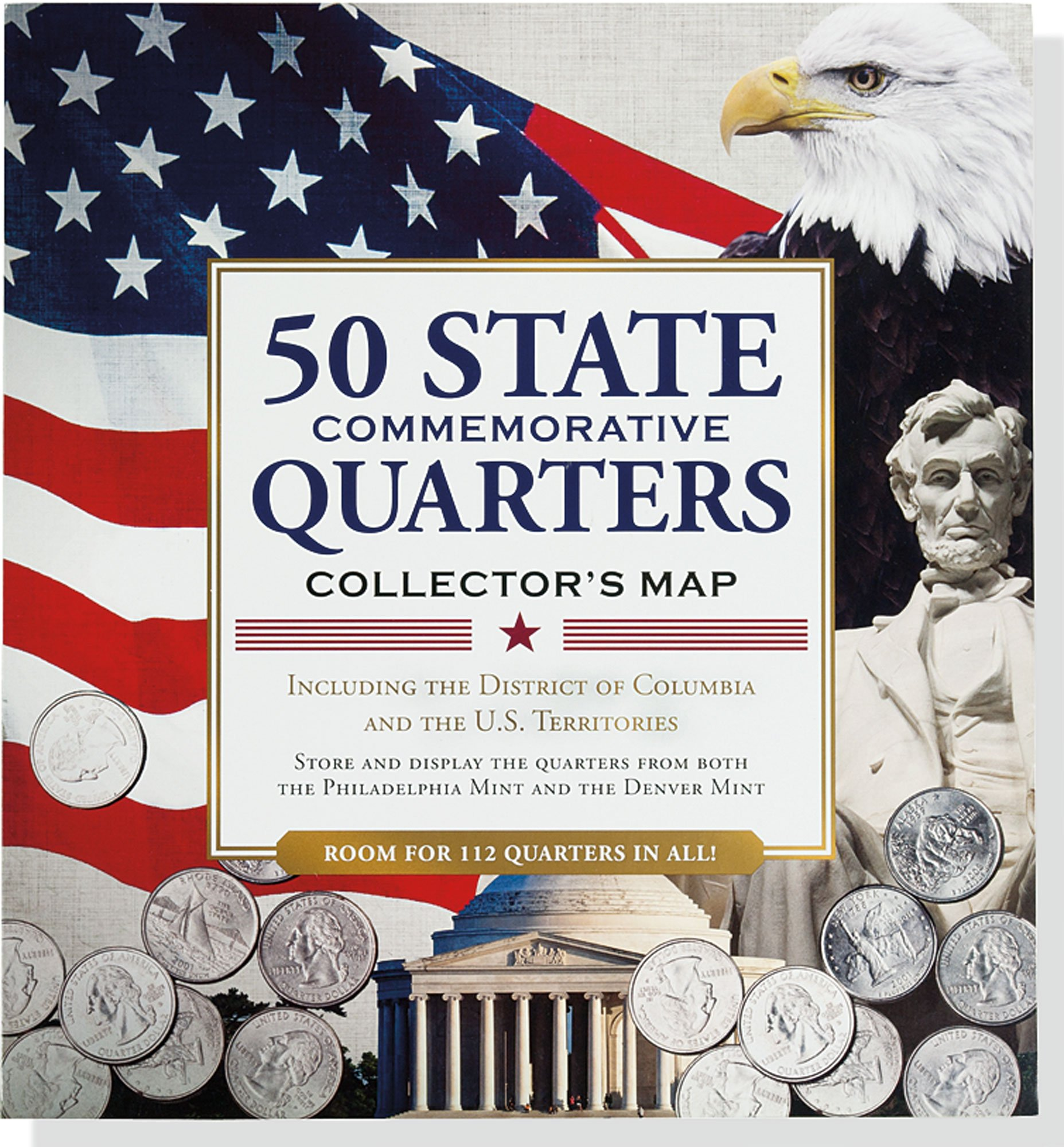 50 State Quarters Collector\'s Map: Including the District of ...