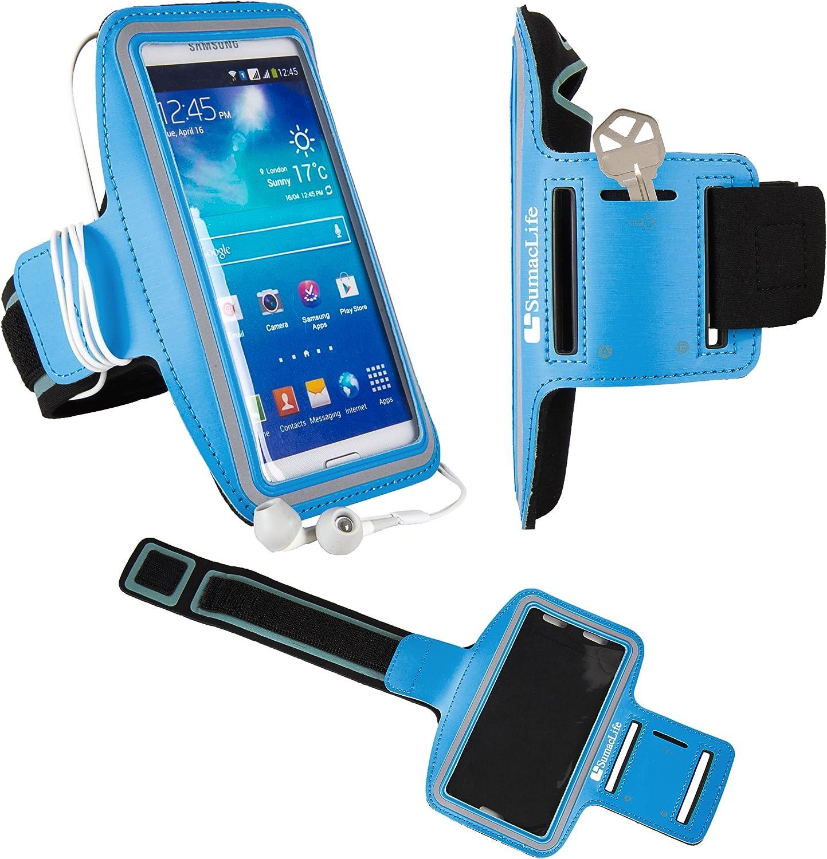 Smartphone Sports Armband for BLU Studio M LTE, G2, G HD LTE, C 8 Plus8 Energy Diamond, Mini, XL R1 Neo X Mini, X Dash Blue