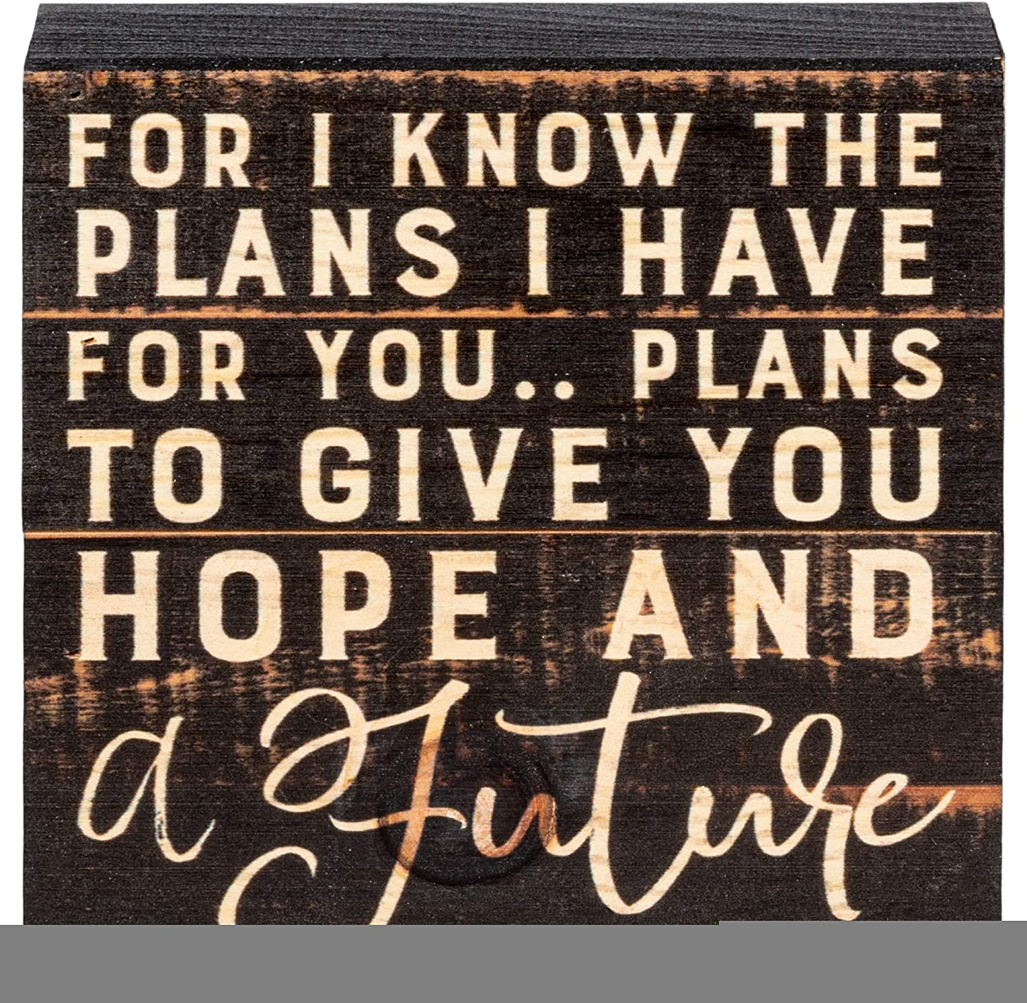 P. Graham Dunn for I Know The Plans I Have for You Black 7 x 7 Inch Solid Pine Wood Boxed Pallet Wall Plaque Sign