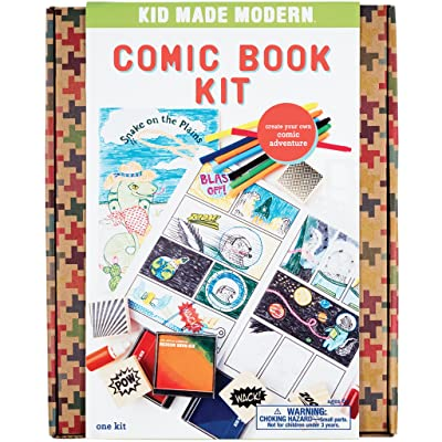 Kid Made Modern Comic Book Kit - Kids Arts and Crafts Toys, Storytelling For Kids: Toys & Games