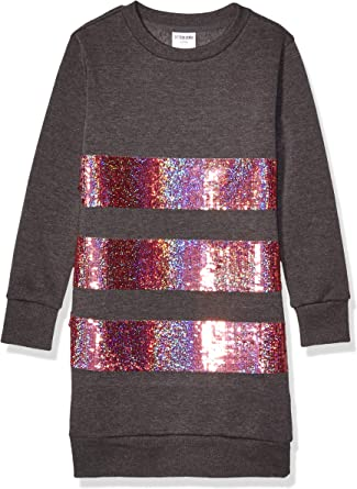 Brand Spotted Zebra Girls French Terry Knit Ruffle Raglan Dress