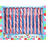 HDIUK Traditional American Peppermint Candy Canes. Christmas Celebration and Tree decorations. (Box of 12)