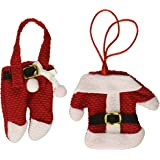 OliaDesign 6pcs Santa Suit Christmas Silverware Holder Pockets