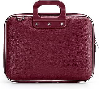 Bombata Bombata Medio Hardcase 13 inch laptoptas Burgundy Red