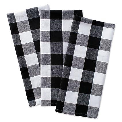Amazon.com: DII Cotton Buffalo Check Plaid Dish Towels, (20x30, Set ...