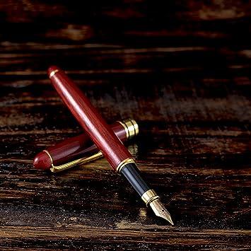 Holz Handgemacht Füllfederhalter Tinte Nachfüllbar Business Hochzeitsgeschenk