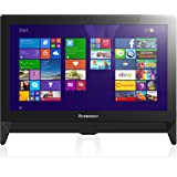 Lenovo C20 19.5-inch FHD+ All-in-One Desktop PC (AMD E1-6010 1.35 GHz, 4 GB RAM, 1 TB HDD, DVD-RW, WLAN, Camera, Integrated Graphics, Windows 8.1) - Black