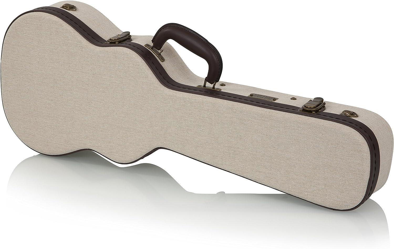 Gator Cases GW-JM-UKE-TEN Deluxe - Estuche de madera para Ukelele Tenor, Beige