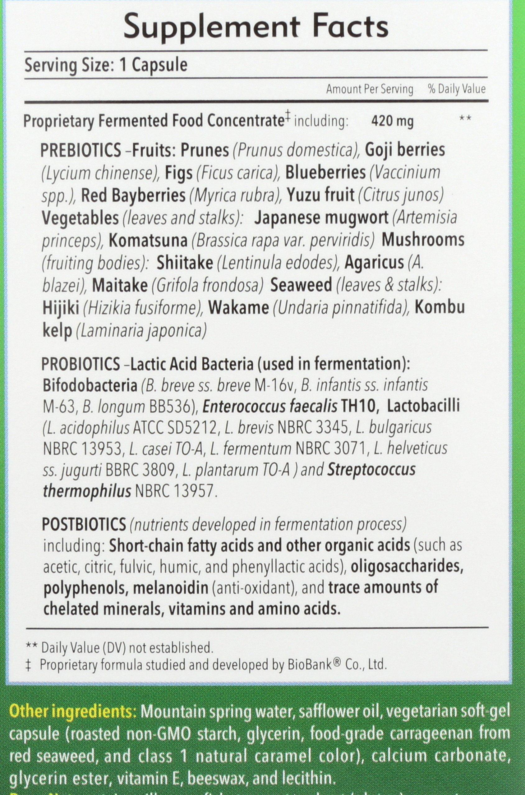 Dr. Ohhira's Probiotics Original Formula 3 Year Fermented Food Supplement with Probiotics, Prebiotics, and PostBiotics for Rapid Microbiome Repair, 60 capsules by Essential Formulas