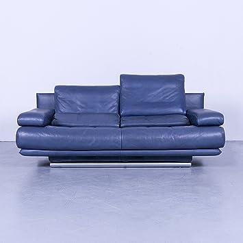 Amazonde Rolf Benz 6500 Designer Leder Sofa Blau Zweisitzer Couch