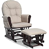 Storkcraft Hoop Glider And Ottoman Set, Cognac/Denim (Discontinued By  Manufacturer)