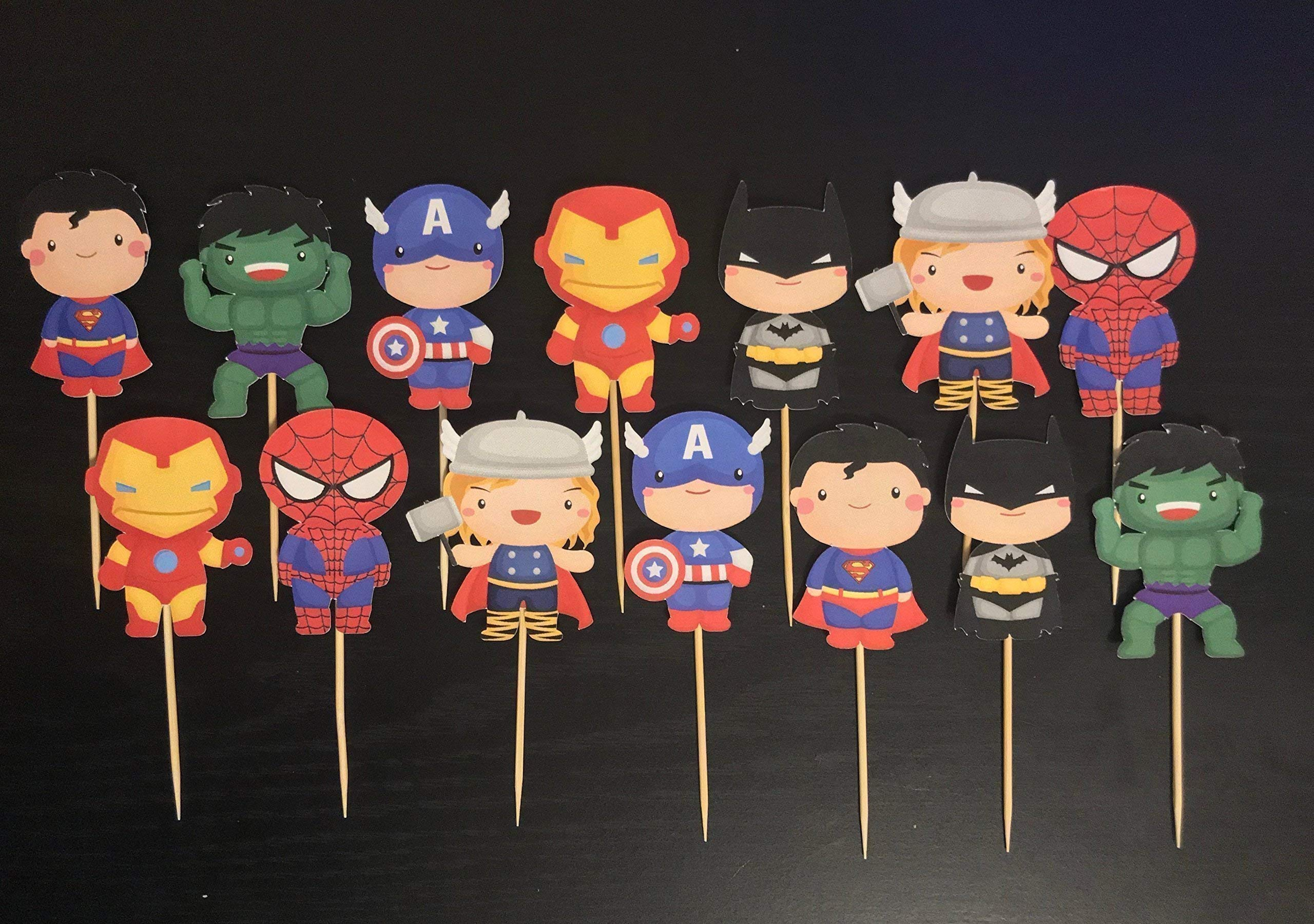 Super Heroes Cupcake toppers/Avengers Cupcake Toppers/Super Heroes party supplies/Super heroes Inspired