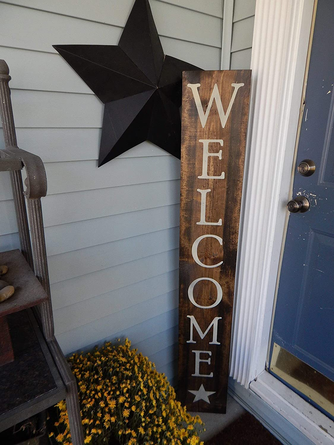 Porch Decor Large Wood Sign Welcome Outdoor Sign