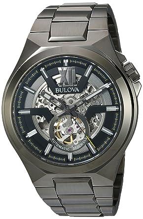 c0b073c943d7 Amazon.com  Bulova Men s Automatic Stainless Steel Casual Watch ...