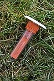 Vermessungspunkt komplett mit angeschraubtem Petling + Logbuch + Stift+ FTF PET Deckel Ausgefallenes Geocaching Versteck wasserdicht