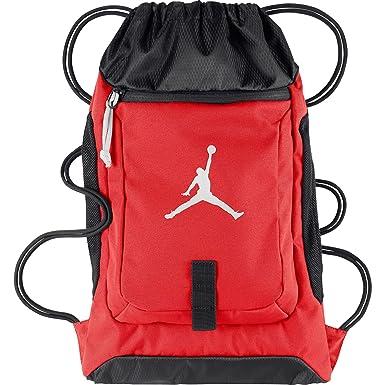 caf3a136b5f5 Air Jordan Drawstring Gymsack Backpack Red Black 612838-695 (Size os)