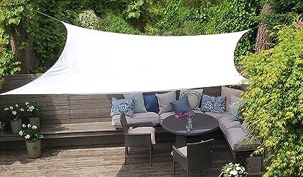 Clara Shade Sail Toldo Vela blanco impermeable sol vela de sombra para jardin impermeable UV Canopy