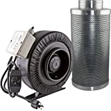 "Apollo Horticulture AH IF6+CF6 6"" 440 CFM Inline Fan with 6"" Carbon Filter"